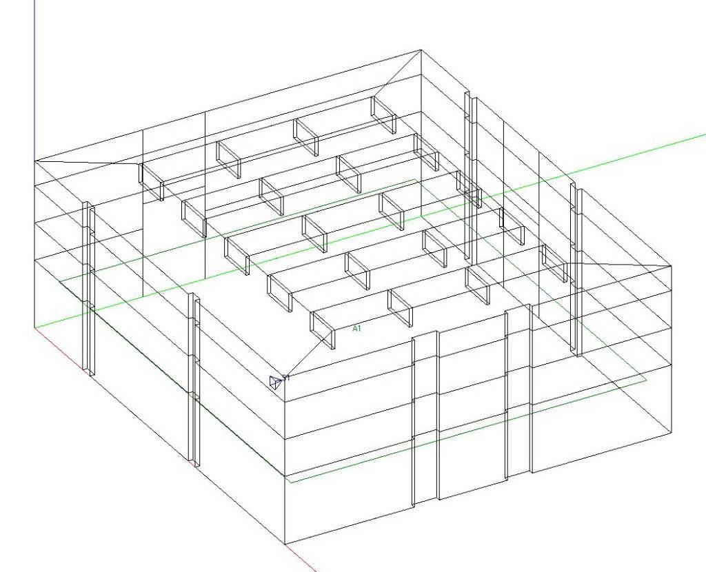Računalni model za simulaciju - 3D model - jednostavni prostor